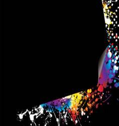 page curl rainbow bright vector image vector image