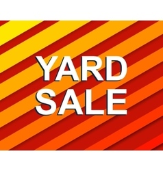 Red striped sale poster with yard sale text vector