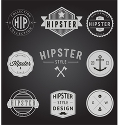 Set of Vintage styled design Hipster icons vector image vector image