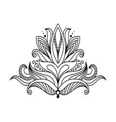 Symmetrical floral design element vector image vector image