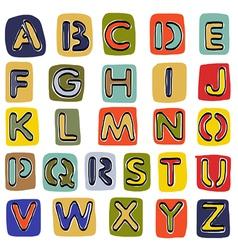 Alphabet sketchbook vector image vector image