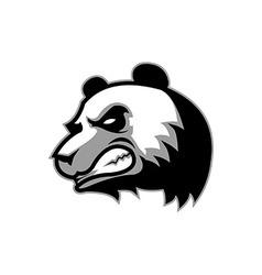 Angry big panda vector