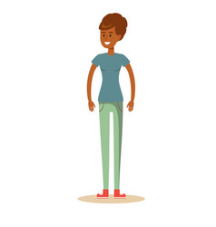 cute cartoon african-american woman vector image