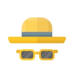 Yellow hat vector image vector image
