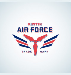 air force retro label sign or logo vector image vector image