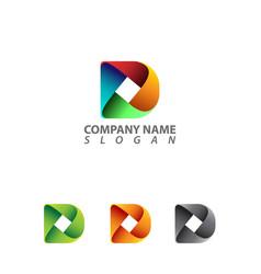 d letter design vector image