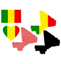 maps of Mali vector image vector image