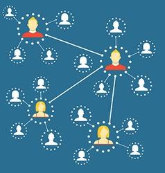 Modern web media network scheme Flat design vector image