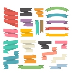 Ribbons set isolated vector image vector image