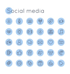 Round Social Media Icons vector image