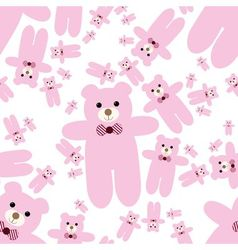 teddy bear seamless pattern vector image
