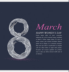 8 march line vector image