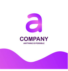 a company logo design with purple theme vector image