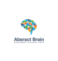 abstract business company logo smart brain vector image