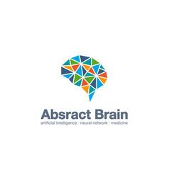 Abstract business company logo smart brain vector