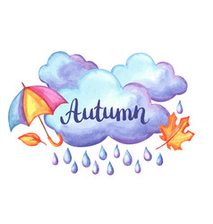 Aquarelle background with autumn elements vector