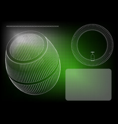 Barrel on a green background vector