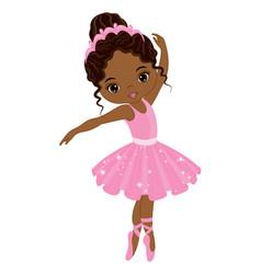 Beautiful african american ballerina dancing vector