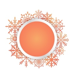 Bright colorful card with snowflakes vector image