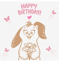 Bunny Happy Birthday vector