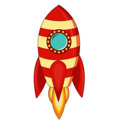 cartoon rocket space ship take off vector image