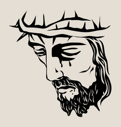 Christ face vector