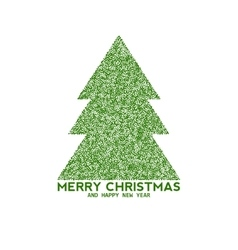 Christmas tree made from dots vector
