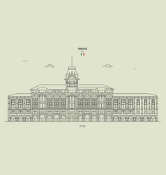 City hall in trieste italy vector
