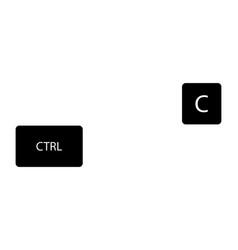 Copy buttons combination vector
