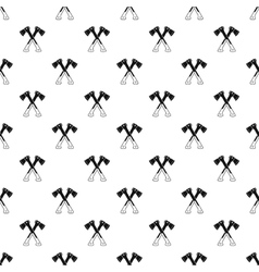 Crossed axes pattern simple style vector
