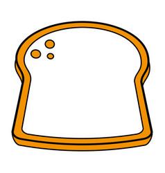 delicious bread slice icon image vector image