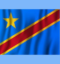democratic republic of the congo realistic waving vector image
