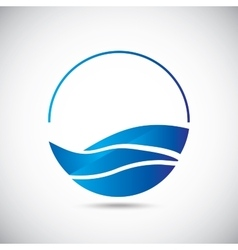 Design elements Water icon vector image