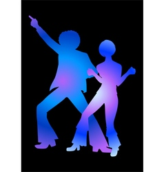 Disco Colorful Blue vector