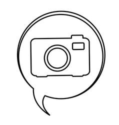 Figure bubbles with camera symbol icon vector