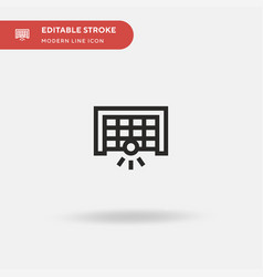 football simple icon symbol vector image