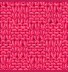 garter checkerboard stitch pattern vector image