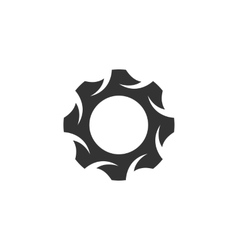 Gear Icon logo on white background vector image