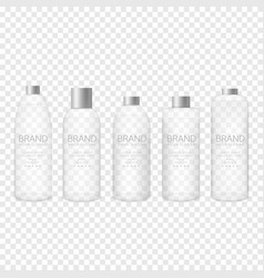glass bottle set vector image