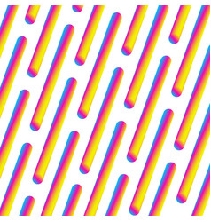 gradient neon repeated sticks on white eps 10 vector image
