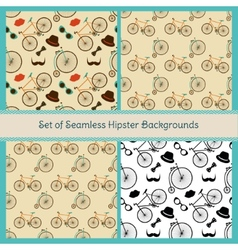 Hipster Colorful Seamless Patterns vector image