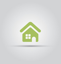 home isolated colored icon vector image