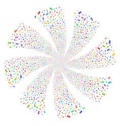 Human embryo fireworks swirl flower vector