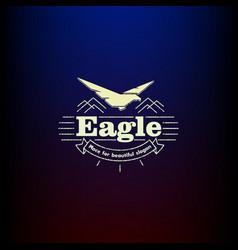 icon eagle vintage vector image