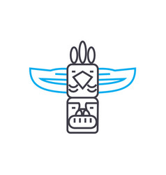 Indian totem linear icon concept indian totem vector