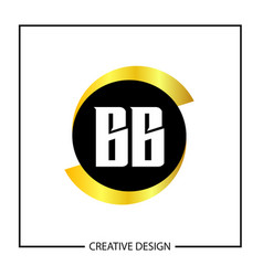 initial letter bb logo template design vector image