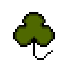 isolated pixelated clover icon vector image