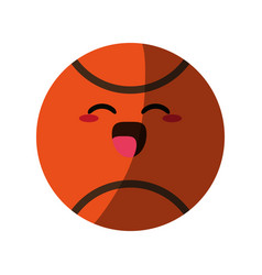 Kawaii basketball ball icon image vector