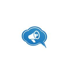 megaphone and loudspeaker amplifier logo design vector image