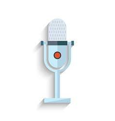 Microphone flat design isolated on white vector
